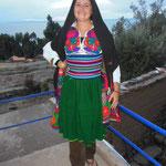 Habits traditionnels île Amantani Lac Titicaca