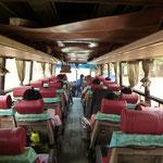 Notre moyen de transport le plus courant le bus local! 10h passées dans celui-ci ^^