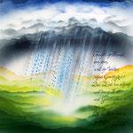 Airbrush/ Tusche, 50 x50, + entspiegeltes Glas, Rahmen, 250,- €