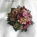 紫陽花のラウンドブーケ