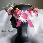 商品番号:RD-122 パステルカラーの花冠