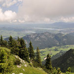 Blick vom Breitenberg auf Hopfensee und Forggensee