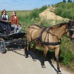 Auf dem Weg zur Pferdesegnung auf dem Laurenziberg