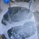 Deep seawater pumped up, 汲み上げられた深層水 (Jan. 2013)