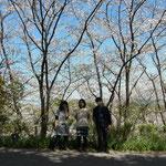 At Okoh castle mountain,  岡豊城跡のある山にて(Apr. 2014)