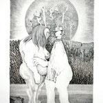Mann mit Hut  / Kupferstich / 25 cm x 35 cm / 1978