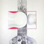 Kugelschreiberzeichnung / 47 cm x 63 cm / 1971