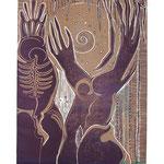 König und Königin / Linolschnitt / 34 cm x 50 cm / 1994