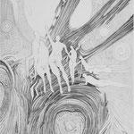 wenn du hinaustauchst nimm Grüße mit, sie wiegen nichts / Kupferstich / 23 cm x 31 cm / 1994
