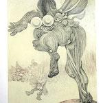 Startende Flatter  / Kupferstich / 25 cm x 35 cm / 1989