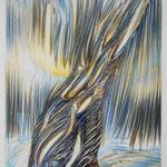 California / Farbstiftzeichnung / 76 cm x 57 cm / 1992