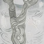 Turbulenz im Weltall / Kupferstich-Etage / 70 cm x 25 cm / 2013