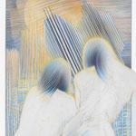 am Fenster  / Farbstiftzeichnung / 76 cm x 57 cm / 1984