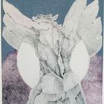Phänomen / Kupferstich - Karton-Materialdruck / 23 cm x 31 cm / 1974