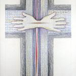 es werde / Farbstiftzeichnung / 76 cm x 57 cm / 2001