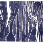 ohne Titel / Linolschnitt / 68 cm x 48 cm / 1998