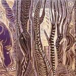 Waldmenschen / Linolschnitt / 65 cm x 50 cm / 2001