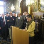 Madame Cécile Gagneux évoque la mémoire de son père, Gontran Gauthier