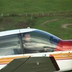 Claude Gigot, ancien commandant de bord d'Air France, troisième pilote de la patrouille