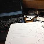 AutoCADで型紙を作製します。
