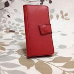 iPhone 6 ケース  革:赤 糸色:茶