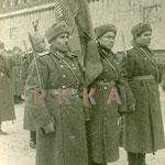 Москва, 1944-й год. Знаменосцы Военной Академии имени Фрунзе. На переднем плане – майор Г.К.Мадоян.
