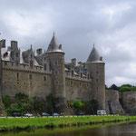 Château de Josselin, côté canal de l'Oust