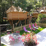 piscine cabanes dans les arbres