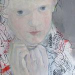 … wie verirrt in nie betretene Gedanken, 150 x 120 cm, Acryl auf Baumwolle