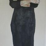 Blickdicht 2 (ich 2), 50 x 200 cm, Acryl auf Leinen