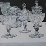 Stilles Leben, 100 x 100 cm, Acryl auf Leinen