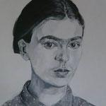 Frida, 40 x 40 cm, Acryl auf Leinen