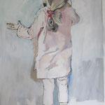 Die kleine Wienerin, 70 x 100 cm, Acryl auf Leinen