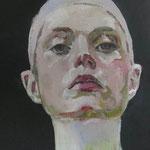 Gesicht I, 22 x 22 cm, Acryl auf Leinen