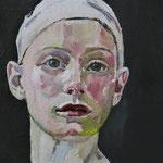 Gesicht II, 22 x 22 cm, Acryl auf Leinen