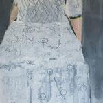 weisse Spitze, 50 x 150, Acryl auf Leinen