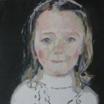 Aurelia, 60 x 60 cm, Acryl auf Leinen