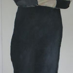 Blickdicht 1 (ich 1), 60 x 160 cm, Acryl auf Leinen