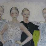 Die Korrekturen, 140 x 90 cm, Acryl auf Leinen