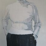 Blendung, 80 x 80 cm, Acryl auf Leinen