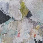 abstrakte Figur, 100 x 50 cm, Acryl auf Leinen