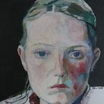 lichte Seite, farbige Schatten, 50 x 50 cm, Acryl auf Leinen
