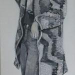 Einfach geradeaus, 150 x 50 cm, Acryl auf Leinen