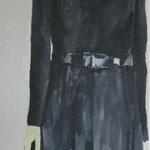 Schwarzgekleidete, 60 x 120 cm, Acryl auf Leinen