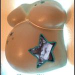 Beleuchteter Gipsabdruck mit 3D-Ultraschallbild...