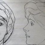 skisse av marionett hovud