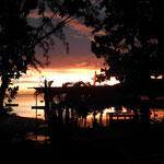 Sonnenuntergang in der Bucht von Le Morne