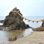三重県の二見輿玉神社がある二見ヶ浦のシンボル「夫婦岩」を撮影。寄り添う姿が私達夫婦の様です(盛岡 佐藤 信也さん)