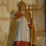 Nuit Romane 2013 Chenevelles > Statuette de Saint Rémi (XVIIIème siècle) Patron de la paroisse © Didier Boulanger