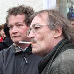 Uli Grötsch, zukünftiger MdB (stellv. Kreisvorsitzender) und Franz Schindler, MdL (SPD-Bezirksvorsitzender) im Dialog
